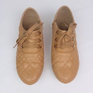 Nature Breeze Beige Embellished Quilted Sneakers